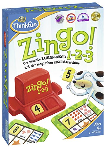 Ravensburger 76352 Thinkfun Zingo 1-2-3 Game]()