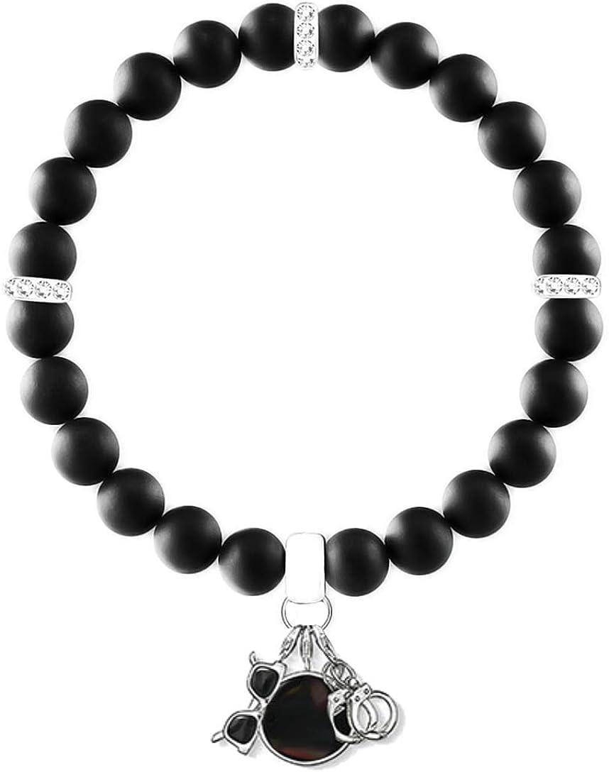 AKKi jewelry Charms Pendentif pour Bracelet et cha/îne Argent Dream Charm Pendentif en Acier Inoxydable avec zircone cubique Collier Coeur Fermoir Mousqueton /él/ément Cristal Swarovski Antique