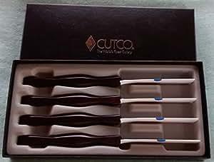 Cutco #1865 4-Pc. Table Knife Set in Gift Box (Classic black handle)