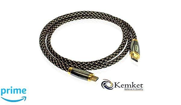 Zinc Kemket Cable HDMI 03136 HDTV, 4 K, 3D, PS3, PS4 y X-BOX apoyado 1,5 m, 3 m, 5 m y 10 m macho a macho Cable HDMI: Amazon.es: Electrónica