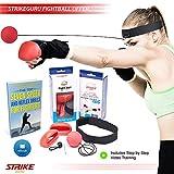 StrikeGuru Boxing Reflex Fight Ball, BONUS E-book, BONUS Step step Online VDO Training, Perfect Reaction, Agility, Punching Speed, Fight Skill Hand Eye Coordination Training