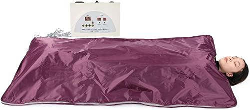 Ejoyous Sauna Blanket, Digital Far Infrared FIR Heat Sauna Slimming Blanket Detox Therapy Anti Ageing Beauty Machine for Weight Loss Body Shaper in Home Professional Salon Beauty Use – Wine Red