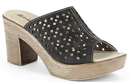 INBLU , Damen Sandalen schwarz schwarz 38