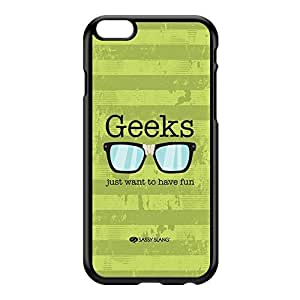 Sassy - Geeks Just Want to Have Fun 10493 Black Hard Plastic Case for iPhone 6 Plus by Sassy Slang + FREE Crystal Clear Screen Protector