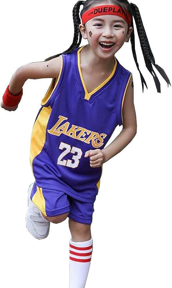 Vest and Shorts Set James #23 Lakers Boys Girls Basketball Jersey ...