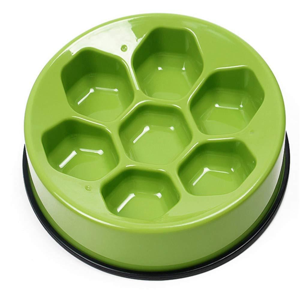 Green Slow Feed Dog Bowl, Bloat Stop Dog Football Shape Slow Food Bowl, Dog Food Bowl Pet Interactive Fun Feeder Slow Bowl, 24CM (Diameter),Green