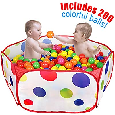Click N Play Kids Ball Pit Playpen, With 200 Crush Proof Play Balls from Click N' Play