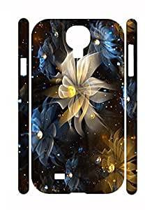 Personalized Beautiful Flower Slim Samsung Galaxy S4 I9500 Phone Snap On Case