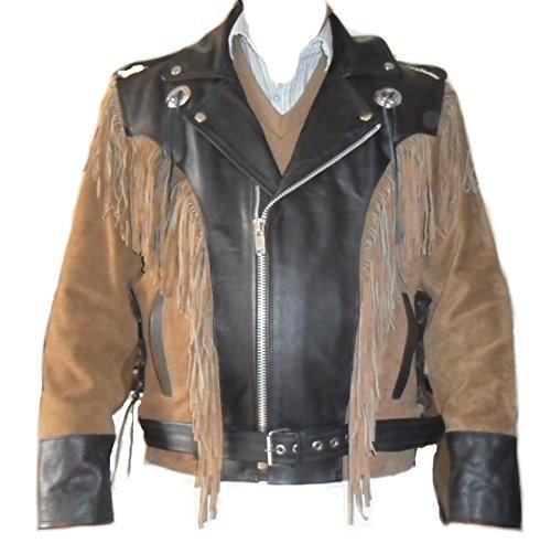 SRHides Mens Fashion Suede Racer Jacket