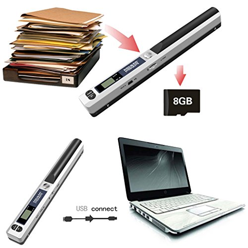 MSRM Wand Portable Document & Image Scanner/USB Mobile Scanner Include 8G Micro SD Card and Battery