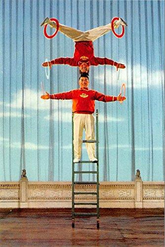 Balancing on a Ladder China, People's Republic of China Postcard