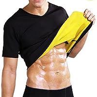HÖTER Men Sauna Sweat Suits Waist Trainer Body Shaper Hot Sweat Workout Shirt Slimming Neoprene Shapers Fitness