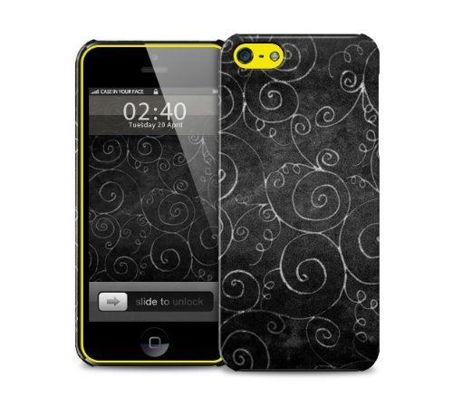 telŽfono protectora cubierta de la caja negro iPhone de halloween pl‡stico 5c