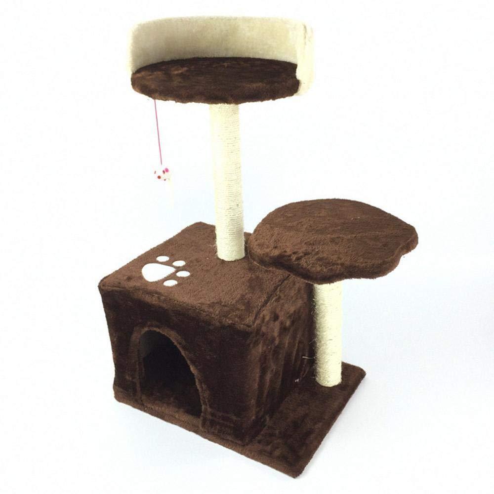 Daeou Alberi Tiragraffi di gatto Gru a benna Cat giocattolo gatto dell'animale domestico post afferrare bordo mobili scaletta gatto nido letto Casa 40  30  68cm