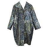 Marina Rinaldi Women's Tigrotto Metallic Printed Coat, Multicolor, 12W/21