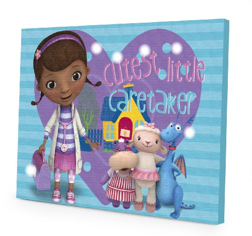 Disney Doc McStuffins LED Canvas Wall Art, 15.75-Inch x 11.5-Inch]()