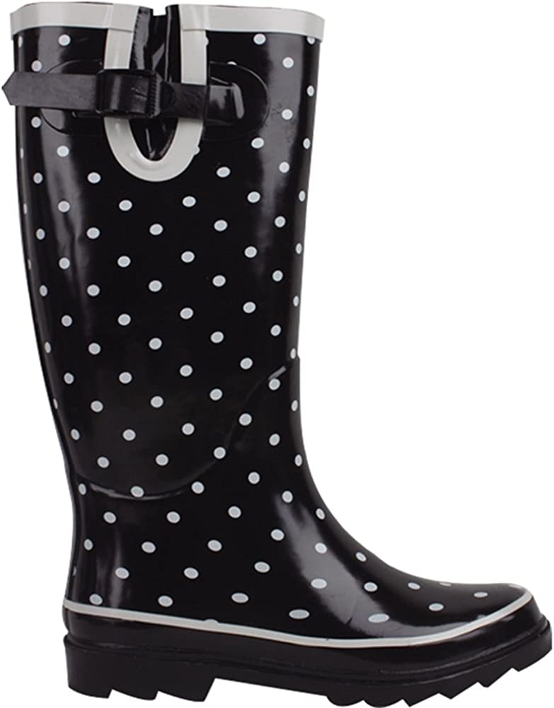 Cambridge Select Womens Pattern Print Colorful Waterproof Welly Rain Boots