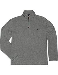 Polo Ralph Lauren Men Half Zip French Rib Cotton Sweater