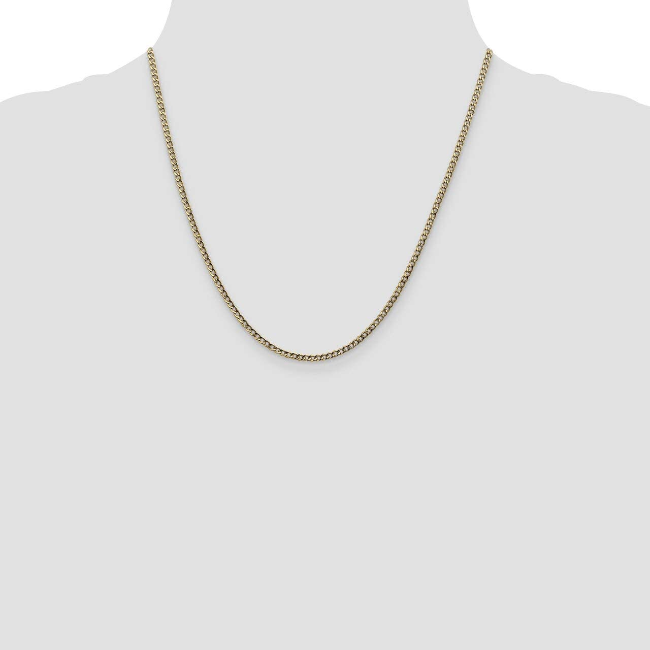 Lex /& Lu 14k Yellow Gold 2.5mm Semi Solid Curb Link Chain Necklace or Bracelet