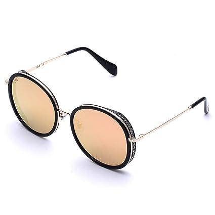 ODSHY Gafas de Sol Mujer Caja Grande Cara Redonda Moda Retro ...