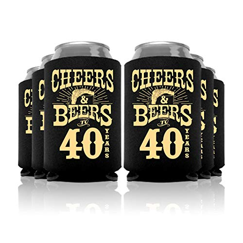 (Cheers and Beers to 40 Years Birthday Can Coolers Party Favor 24)