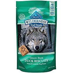 BLUE Wilderness Trail Treats Grain-Free Duck Biscuits Dog Treats 10-oz
