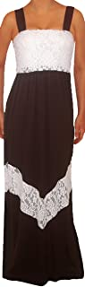 product image for Funfash Women Black White Lace Chevron Maxi Long Dress Size Large Made in USA