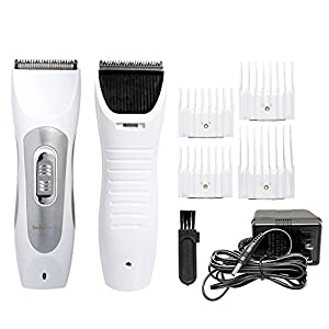 BarksBar Original Pet Grooming Clippers With Guide Combs Kit - Cordless, Rechargeable, Ultra Quiet Steel Blade & Carbon Steel Head, For Pets Of All Sizes