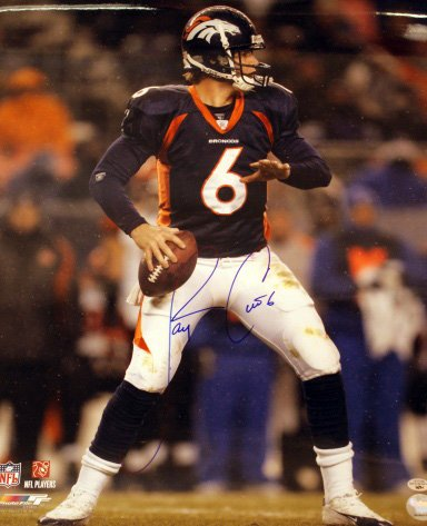 Denver Broncos Jay Cutler 8x10 Signed Photo (Cutler Photograph)