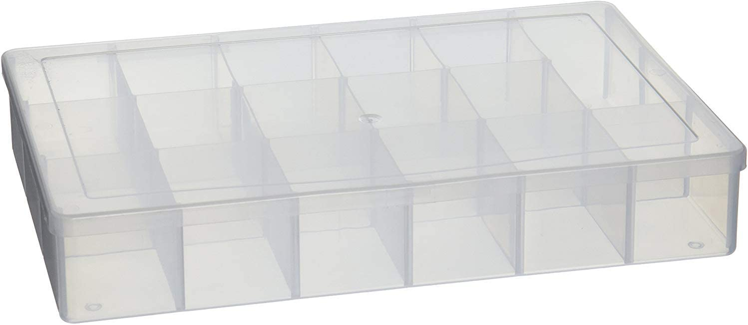 B00BYL3NSK Darice S Clear Organizer Storage Case, 10.25 x 6.75 x 1.625 – Snap-Tight Bead Holder with 17 Compartments, Also for Sequins, Nails, Jewelry Making Supplies and More 51QBTmDBHXL