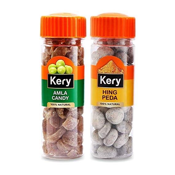 Kery Hing Peda & Amla Candy Mouthfreshener, 2 Bottles, 270g [Yummy Digestive Pachak]