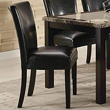 Carter Upholstered Dining Side Chairs Cappuccino and Black Set of 2