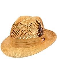 Men's Pinch Front Vented Toyo Fedora Hat