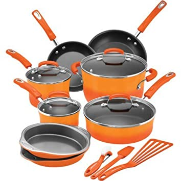 Rachel Ray 15 Piece Cookware Set – Hard Enamel