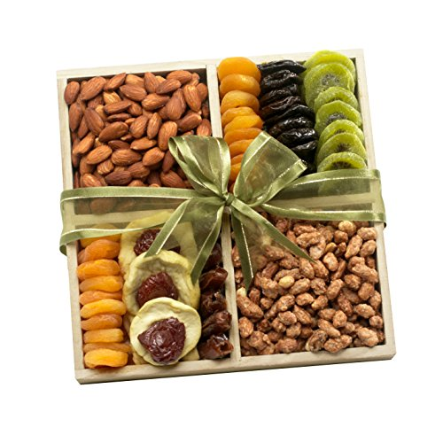 Broadway Basketeers Fruit and Nut Crate Gift Tray by Broadway Basketeers