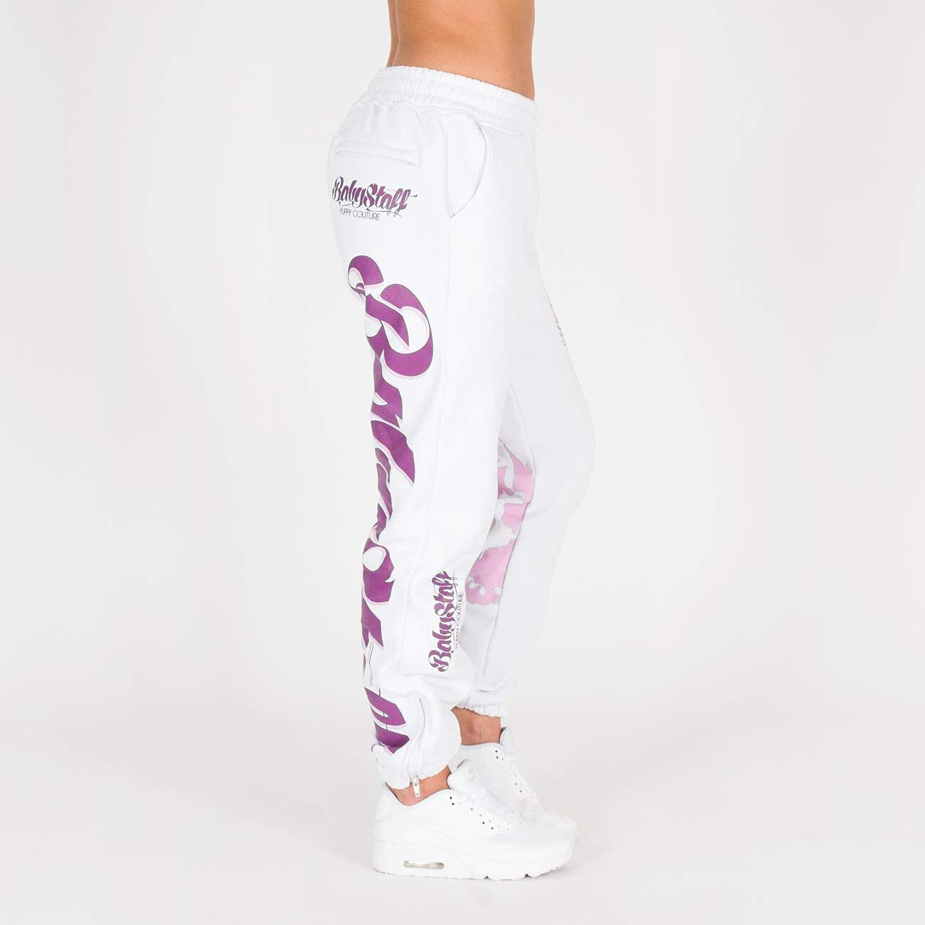 Bianco Colore Pantaloni da Jogging da Donna Babystaff Merah Sport