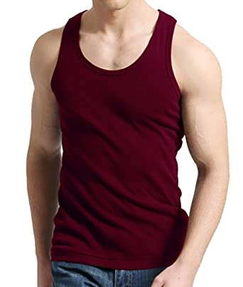 cef5e090fe4df Mens Classic Fit Fitness Running Gym Soft Tank Top Cotton T Shirt at ...