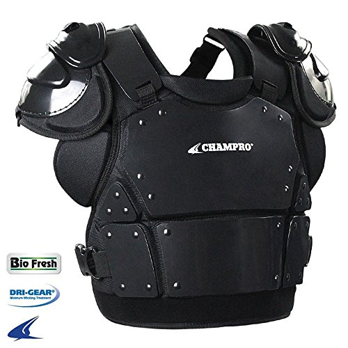 Champro Chest Protector - CHAMPRO Pro-Plus Plate Armor Chest Protector BLACK ADULT L (14.5