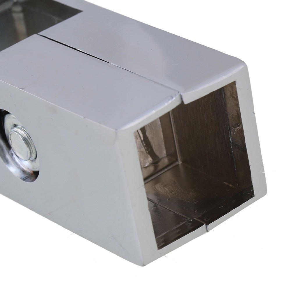 Yibuy Abrazadera de 2 V/ías para Tubo Cuadrado DE 25 mm