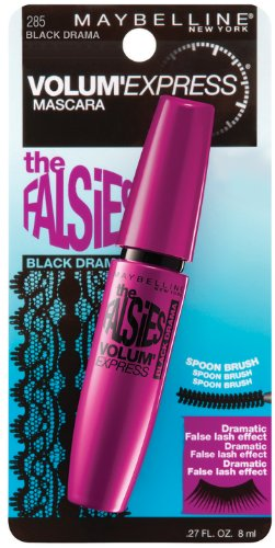 Maybelline New York Express Mascara lavable Le Falsies Volum ', Noir Drame 285, 0,27 once liquide
