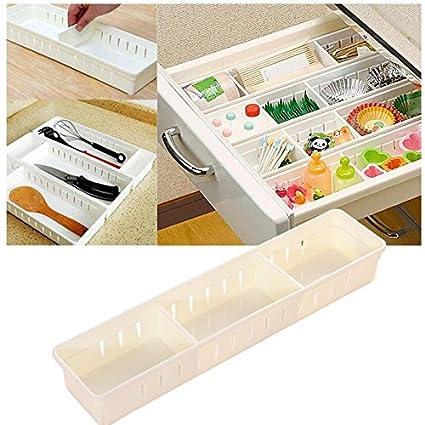 Divisori Cassetti Ufficio.Wlgreatsp Cassetto Organizer Cassetti Regolabili In Plastica Trasparente Con 3 Divisori Per Cassetti Regolabili Per Ufficio Scuola Cucina Como