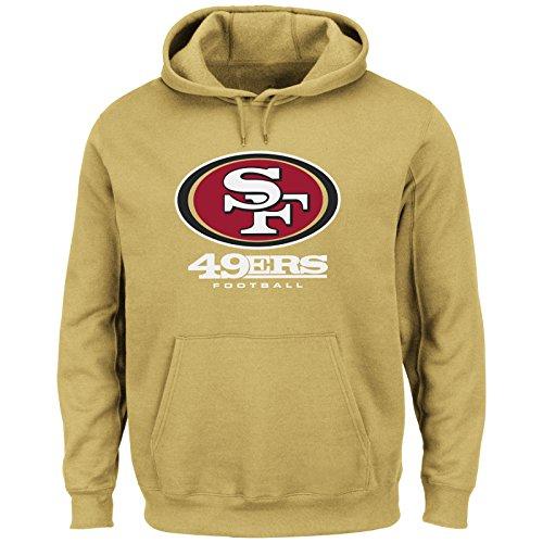 Majestic San Francisco 49ers Critical Victory VIII Gold Long Sleeve Hooded Sweatshirt Small