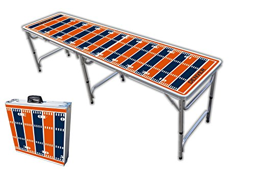 8-Foot Professional Beer Pong Table - Denver Football Field Graphic
