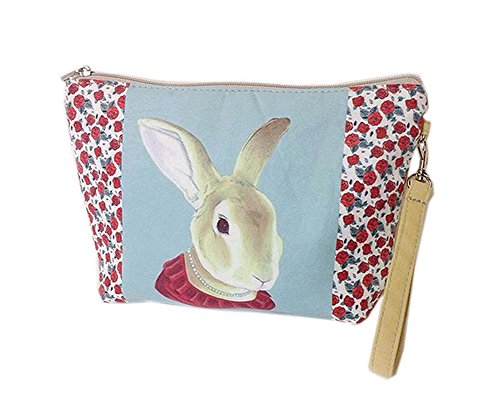 Cute And Unique Rabbit Canvas Cosmetic Bags/Purse - Potency Green Tea