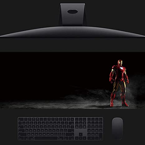 Non-Slip Rubber Mouse Pad Avengers League Office Desktop Suitable for All Computer Desktop A+++ Water Resistant Stitched Edge Iron Man Keyboard Pad//Table Mat
