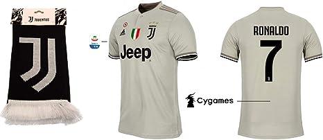 Juventus Turin 2018-2019 Away Serie A Ronaldo 7 - Camiseta de fútbol para Hombre, Small: Amazon.es: Deportes y aire libre