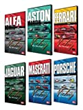 Victory By Design DVDs. Complete Set. Porsche DVD, Ferrari DVD, Maserati DVD, Aston Martin DVD, Alfa Romeo DVD, Jaguar DVD. Race-winning cars driven hard. Unique footage, rare cars, hidden in private collections.