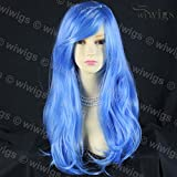 Wiwigs ® Animation Cosplay Long Layes Wavy Blue mix Ladies Wig skin top