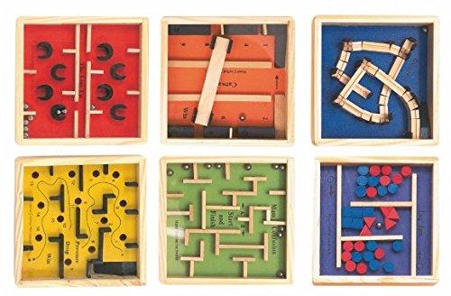 Geschicklichkeitsspiel - Geduldsspiel - Spiel Kinder / Erwachsene Holz Labyrinth - Knobelspiel - Knobelspiele / Mitgebsel - Kugelspiele