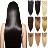 120g-160g 14'' 16'' 18'' 20'' 22 Inch 100% Natural True Thick Double Weft Full Head Set Clip in 100% Remy Human Hair Extensions Top Grade 7A For Woman Beauty 8Piece 18Clips